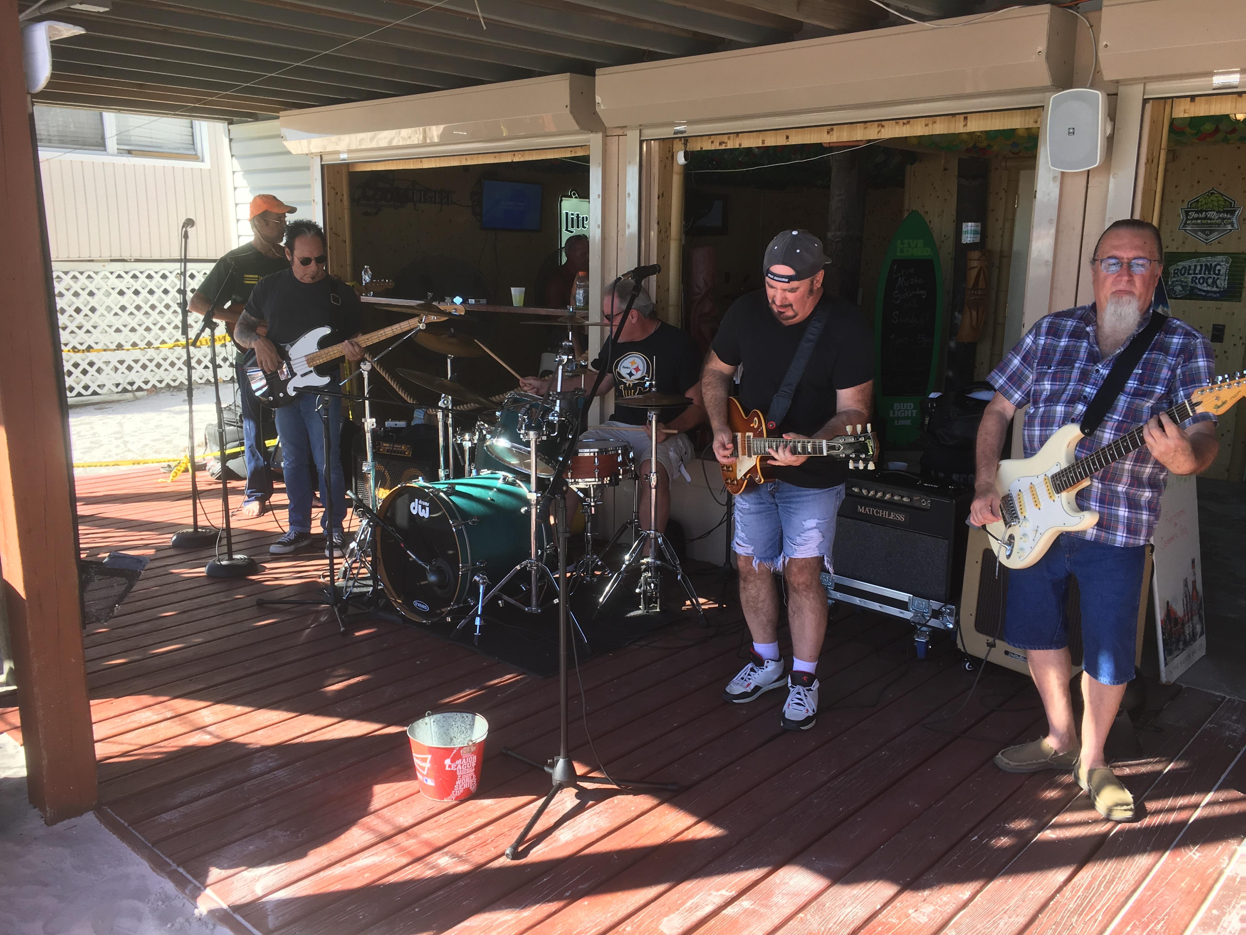Band at Beach Bar